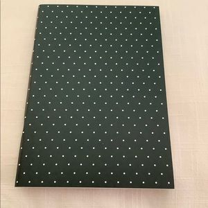 kate spade Office - Kate Spade Notebook Black White Dots Journal NWT